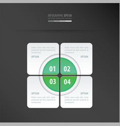 rectangle presentation design neon green vector image