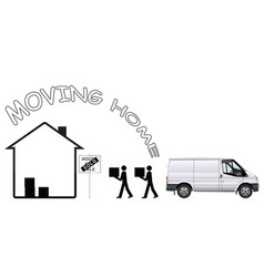 representation moving home vector image