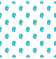 Robotic head pattern cartoon style vector image