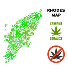 Royalty free marijuana leaves mosaic greek rhodes vector