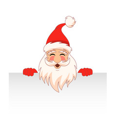 santa claus cartoon character with clean sheet vector image