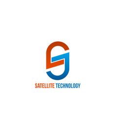 satellite technology sign vector image
