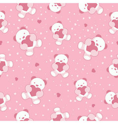 seamless pink babackground vector image