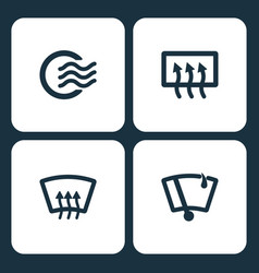 Set car dashboard icons vector