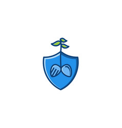 shield tree protector logo vector image