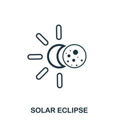 Solar eclipse icon flat style icon design ui vector