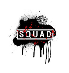 squad - abstract pubg vector image