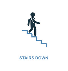 stairs down icon monochrome style design from vector image