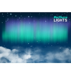 Starry Night Sky Aurora Beautiful Natural Effect vector