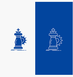 strategy chess horse knight success line and vector image