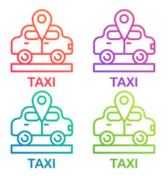 taxi icon cab design logo taxi point gradient vector image