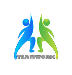 teamwork partner collaboration vector image