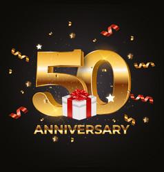 Template logo 50 years anniversary eps10 vector