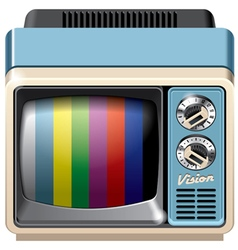 Vintage television receiver icon vector