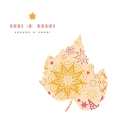 warm stars leaf silhouette pattern frame vector image