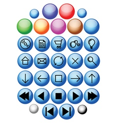 webpage icons vector image