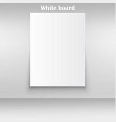 White squared notebook paper on white background vector