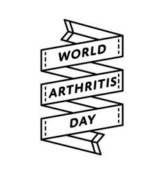 World arthritis day greeting emblem vector