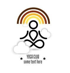 Yoga logo or page design vector