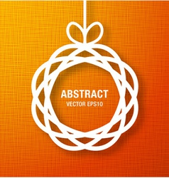 Abstract Circle Paper Applique on Orange Backgroun vector image