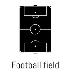 football field icon simple black style vector image vector image