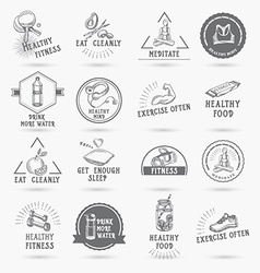 Healthy life icon design vector image vector image