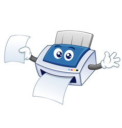Printer cartoon vector