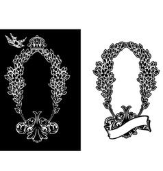 Royal ornate wreath vector