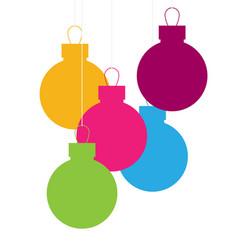 christmas balls flat vector image vector image