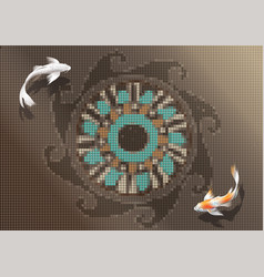couple of koi carp vector image vector image