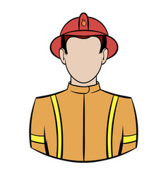 fireman icon cartoon vector image