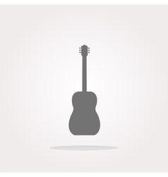 Guitar - icon button isolated Web Icon Art vector image