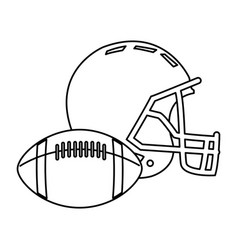 american football helmet ball sport equipment vector image