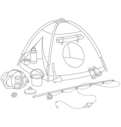 Camping tent of a tourist vector