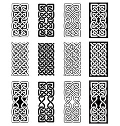 celtic knot inspired by scottish irish carving vector image vector image