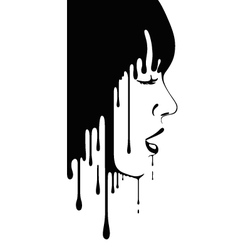 face of girl vector image