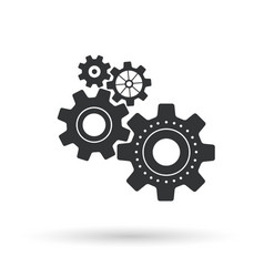 gear icon on white background vector image