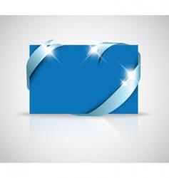 greeting card with ribbon vector image