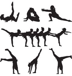 gymnastics and dance vector image vector image