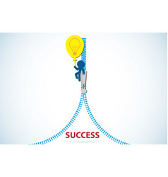 opened zip revealing a text success vector image vector image