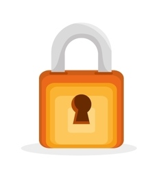 padlock save the money icon vector image