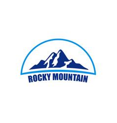 rocky mountain logo vector image vector image