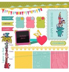 Scrapbook Design Elements - Birthday Baby Set vector image vector image