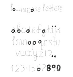 set with alphabet letters sequence from a vector image