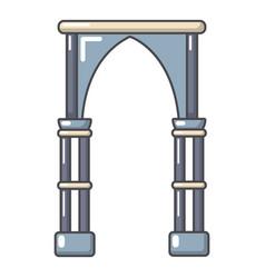archway construction icon cartoon style vector image vector image