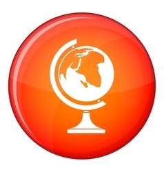 Globe icon flat style vector image vector image