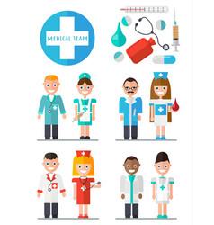 medical team set vector image