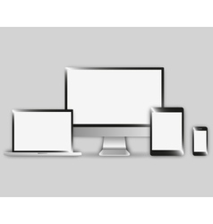 modern electronic devices set vector image