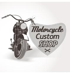 Motorcycle custom motor shop emblem vector