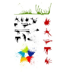 Splash grunge vector image